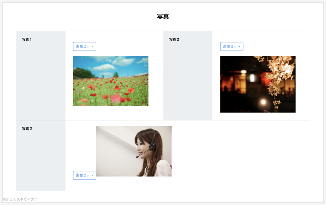 日報テンプレートパーツ:写真